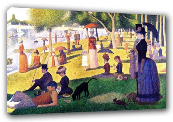 Seurat, Georges Pierre: Sunday Afternoon on the Island of La Grande Jatte. Fine Art Canvas. Sizes: A3/A2/A1 (003243)